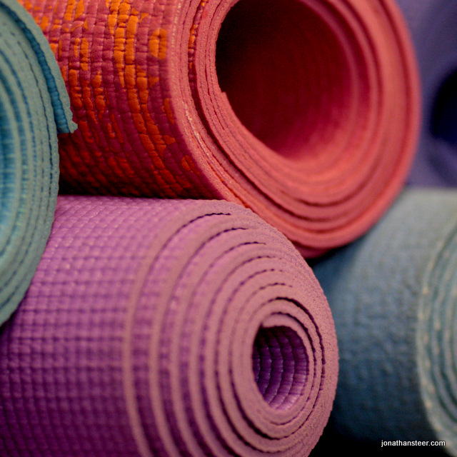 yoga mats at yoga glow studio Beccles