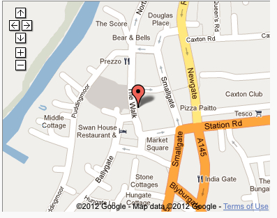 yoga glow studio Beccles map