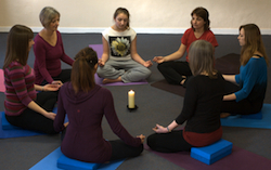 meditation circle at Yoga Glow Studio Beccles