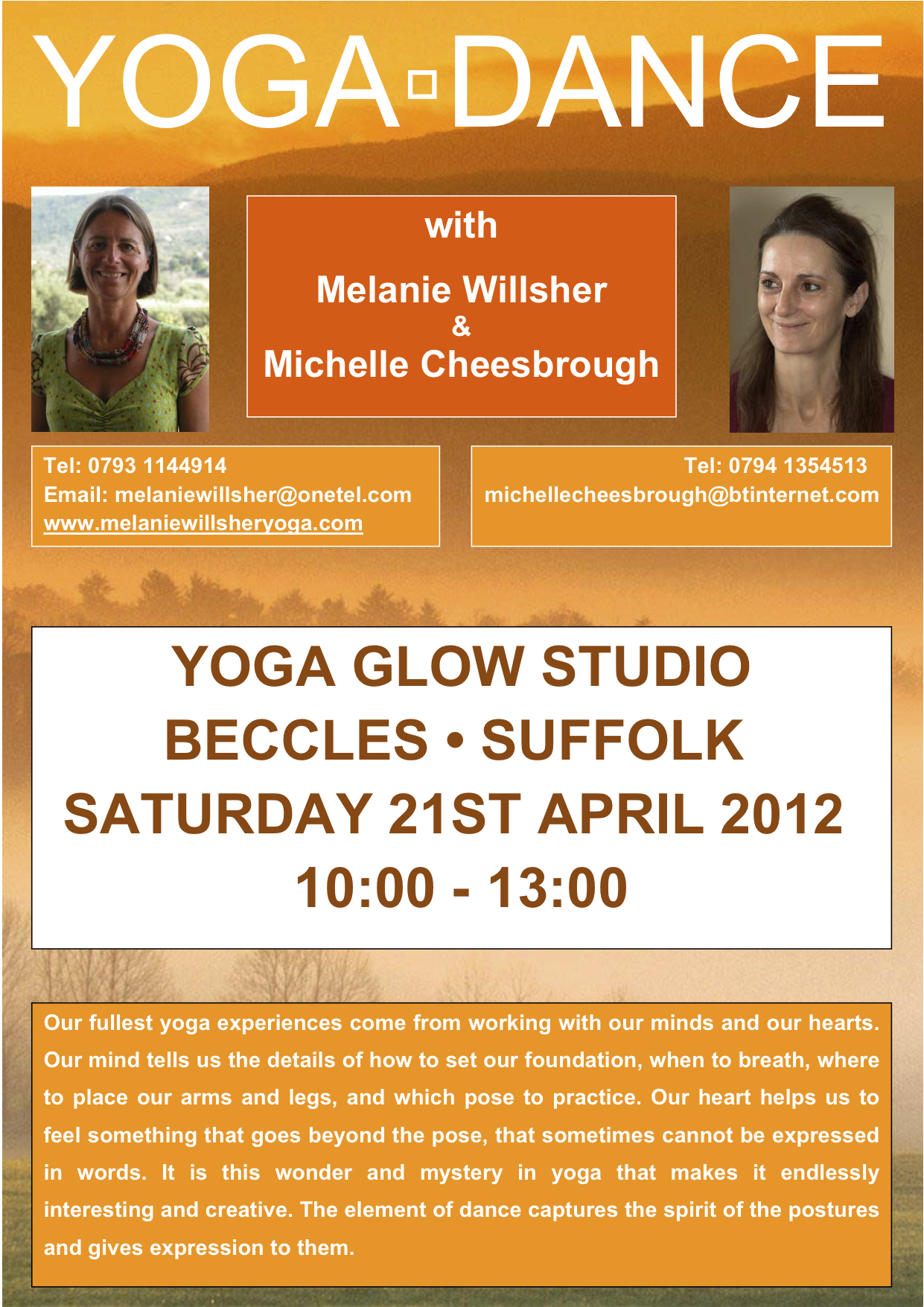 Yoga Dance at Yoga Glow Studio Beccles