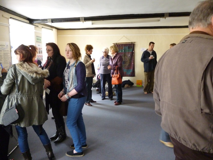 Visitors at Yoga Glow Studio Beccles Open Day